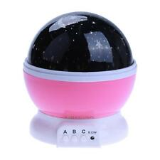 Baby Sleeping Rotating Sky Moon Star LED Projector Night Light Projection Lamp