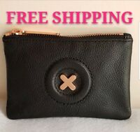 FREE POST MIMCO SMALL BLACK ROSE GOLD DAYDREAM POUCH WALLET COW LEATHER RRP69.95