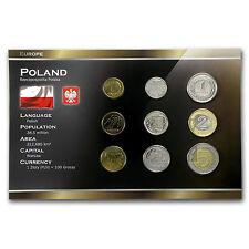 Poland 1 Grosz-5 Zlotych 9 Coin Set Unc (Random) - SKU #87158