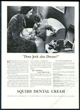 1937 Scottie dog Scottish Terrier photo Squibb Dental Cream vintage p 00006000 rint ad