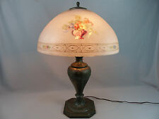 Fine Pairpoint Reverse Painted Lamp Dresden Design Signed Shade and Base