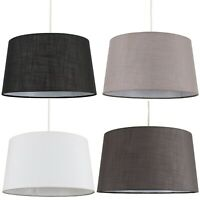 Modern Tapered Faux Linen Ceiling Pendant/Table Lamp Light Shade Easy Fit