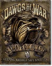 Dawgs Of War Always On Guard Since 1776 Tin Sign Marines Wall Poster Decor