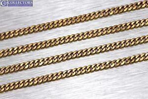 "Men's Modern 34.00"" 18K Yellow Gold 2.50mm Curb Cuban Link Chain Necklace 19.5gr"