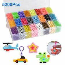 5500x Aquabeads Glitzer Set DIY Basteln Kinder Bastelset Glitzerperlen Perlen