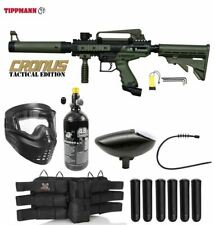 Maddog Tippmann Cronus Tactical Titanium Hpa Paintball Gun Starter Package Olive