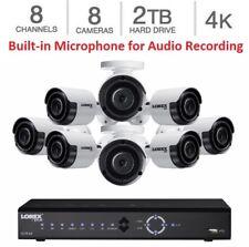 NEW Lorex 8 Channel HD PoE NVR Security 2TB + 8 x 4K IP Ultra HD Audio Cameras
