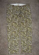 J CREW CAFE CAPRI in ABSTRACT LEOPARD print PANTS size 2 Style 64914 ($148) J6