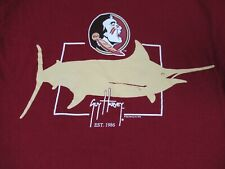 Nwot Guy Harvey Fsu Florida State Seminols Rojo Oscuro Pequeño Camiseta D1281