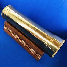 Vintage Van Cort Instruments Brass Kaleidoscope w/ Display Stand USA