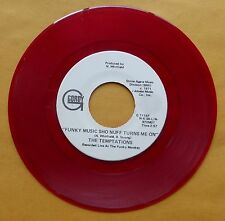 TEMPTATIONS: FUNKY MUSIC SHO NUFF TURNS ME ON gordy RED WAX promo 45 rare