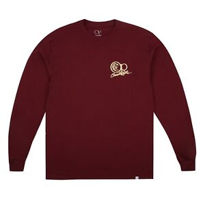 Ocean Pacific Mens - Tonal Core Logo - Surf - Long Sleeve T-shirt - Burgundy