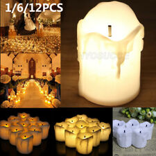 12 PCS Flameless Votive Candles Battery Operated LED Tea Light Wedding Christmas