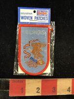 Vtg Cash's Souvenir ILLINOIS Woven Patch - Eagle And Patriotism 91Q