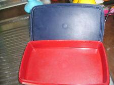 Tupper Vesperle  Vesperbox Brotdose Butterbrotdose Aufschnitt Lunchbox rot blau