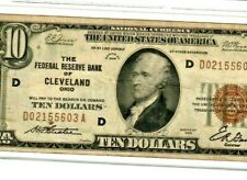 """$10 """"1929"""" """"NATIONAL CURRENCY"""" (CLEVELAND)  $10 """"NATIONAL CURRENCY""""VERY CRISPY!!"""