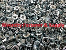 (500) M8-1.25 or 8mm x 1.25 Serrated Flange Lock Nut 10.9 Spin Wiz Nut 13mm Hex