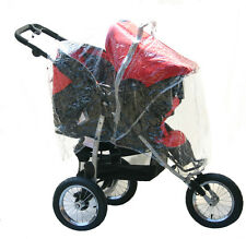 NEW Zipped Raincover for 3&4 wheeler pushchair shopper  travel system Hauck etc.