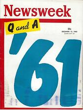 NewsWeek Magazine December 12, 1960 Phil Silvers Chance Vought Pink Telephone