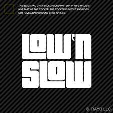 (2x) Low & Slow Sticker Die Cut Decal Self Adhesive Vinyl jdm low and slow