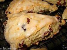 6 Homemade SCONES * Cranberry Orange PUMPKIN Chocolate Chip PEANUT BUTTER Spice