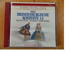 Bach: Brandenburgische Konzerte 1- 3 Maurice Andre Lorin Maazel, Rsob