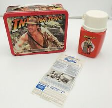 Vintage 1984 Metal Lunch Box Indiana Jones and the Temple of Doom/ with Thermos