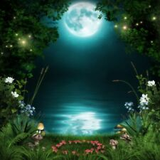 6x6ft Forest Night View Backdrop Scenery Background Photography Prop Wallpaper