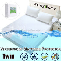 Bamboo Mattress Cover Protector Waterproof Twin Queen Bed Pad Hypoallergenic