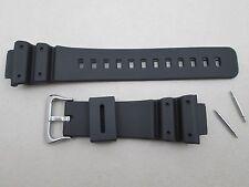 Rubber PU watch band black fits G-Shock DW6695 DW6695D DW6900B DW8700 DW8700G