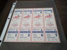 1981 World Series 4 Tickets Texas Rangers unused Mint! Uncut lot Baseball Mlb