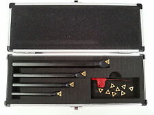 Amadeal 4 piece Boring Bar Set - TiN coated Carbide tips 8, 10, 12, 16mm shank