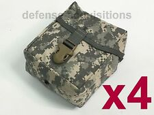 LOT OF 4 NEW Military Issue Large ACU IFAK MOLLE First Aid Pouch / Utility Pouch