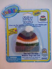 "xbx Stripy Toque knit hat WEBKINZ PET CLOTHING 8"" doll bear new with code"