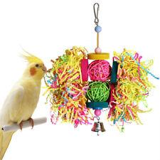 BIRD PET PARROT HANGING SWING ROPE CAGE BITE CHEW TOYS PARAKEET COCKATIEL BUDGIE