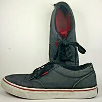 Vans TB4R Skateboard Shoes Flats Black/Red Men's Size 9