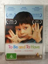 To Be And To Have DVD (French documentary movie) RARE - Region 4
