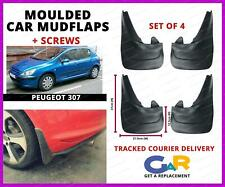Rubbert Car Mud Flaps Splash guards set of 4 front and rear for Peugeot 307