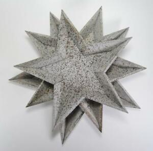 """Stackable Decorative 5 Point Star Trays Set of 3 Graduated Sizes 17"""" to 19"""""""