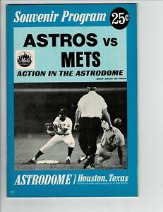 1969 ASTROS vs. METS Game Souvenir Program UNMARKED scorecard  NOLAN RYAN