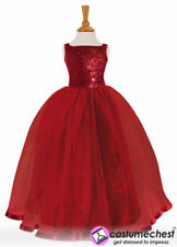 Girls  5-6 years Ruby Red Ballgown Party Bridesmaid Dress by Travis