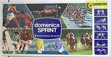 Ancien jeu Domenica Sprint / Clementoni Giochi / 6 giochi sportivi da tavolo