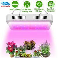 1000W LED Grow Light Hydroponics Full Spectrum Indoor Plant Flower Bloom Lamp