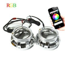 3.0inch h1 Bi xenon hid Projector lens Shrouds RGB app Bluetooth Led angel eyes