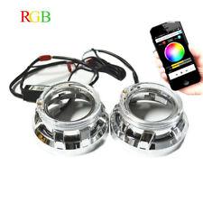 3.0 pulgadas h1 Bi Xenon HID LENTE PROYECTOR Tech RGB LED Ojos de Ángel de la aplicación Bluetooth