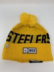 Pittsburgh Steelers New Era NFL Knit Hat On Field Sideline Beanie NWT New