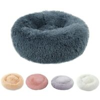 Pet Dogs Cats Round Nest Bed Warm Soft Plush Comfort Calming Mat Bed For Pet Dog