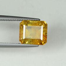 Sphalérite taille emeraude jaune orangé de 5,19Cts d'Espagne