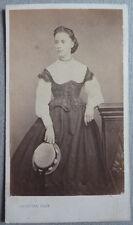 Photo Cdv Albuminé Jeune Fille Par Sabatier Au Puy Vers 1860