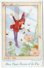 Early  MARGARET TARRANT The Honey Bee Fairies of the Countryside Series Postcard